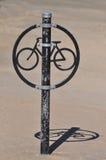 Estante único de la bici Imagen de archivo libre de regalías