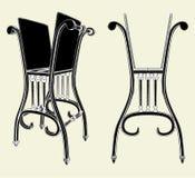 Estante antiguo 01 de la silla ilustración del vector