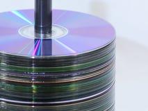 Estante CD dejado imágenes de archivo libres de regalías