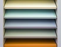 Estante colorido Imagen de archivo