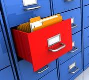 Estante con las carpetas Imágenes de archivo libres de regalías