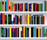 Estante con los libros stock de ilustración