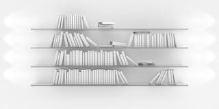 Estante con los libros Imagen de archivo libre de regalías