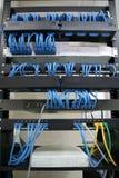 Estante de cableado imagenes de archivo