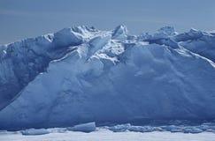 Estante de hielo de Riiser Larsen del mar de la Antártida Weddell Fotos de archivo