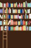 Estante de la biblioteca lleno Imagen de archivo libre de regalías