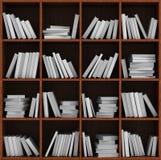 Estante de la biblioteca por completo de libros Imagen de archivo libre de regalías
