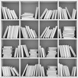 Estante de la biblioteca por completo de libros Imagenes de archivo