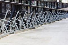 Estante de la bici Foto de archivo libre de regalías