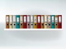 Estante de la carpeta bookcase Imagenes de archivo