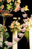 Estante de la vela de la boda Fotos de archivo