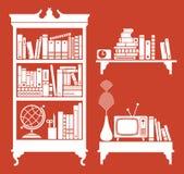 Estante de librería ilustración del vector