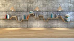 Estante de librería minimalista Fotografía de archivo libre de regalías