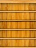 Estante de libro de madera Imagen de archivo libre de regalías