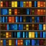 Estante de libro inconsútil Fotografía de archivo libre de regalías