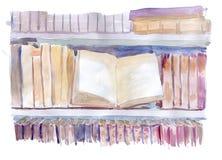 Estante de libros Foto de archivo
