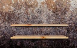 Estante de madera Imagen de archivo