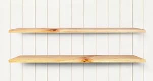 Estante de madera Imagen de archivo libre de regalías