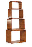 Estante de madera aislado Imagen de archivo libre de regalías