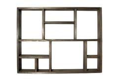 Estante de madera aislado Fotos de archivo
