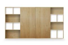 Estante de madera aislado en blanco ilustración del vector