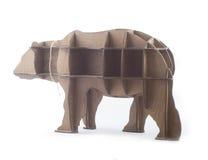 Estante de madera bajo la forma de oso Foto de archivo