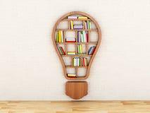 estante de madera 3d en la forma de bulbo Imagen de archivo libre de regalías