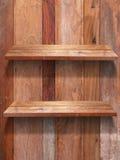 Estante de madera de dos pisos Foto de archivo libre de regalías