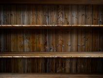 Estante de madera vacío stock de ilustración