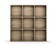 Estante de madera vacío Imagen de archivo libre de regalías