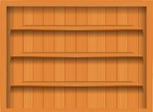 Estante de madera vacío del vector. ilustración del vector