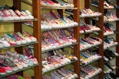 Estante de zapatos Foto de archivo libre de regalías
