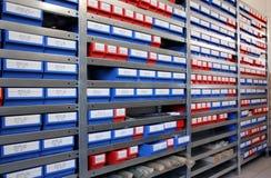 Estante del almacenaje Imagen de archivo libre de regalías