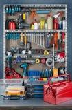 Estante del garaje Imagen de archivo
