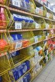 Estante del kleenex del supermercado Fotos de archivo