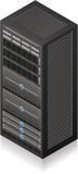 Estante del servidor Foto de archivo libre de regalías