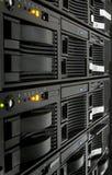 Estante del servidor Fotos de archivo libres de regalías