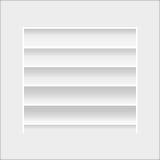 Estante en blanco blanco Imagenes de archivo