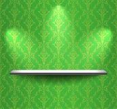 Estante en la pared verde stock de ilustración