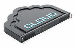 Estante formado nube del servidor de red ilustración 3D ilustración del vector