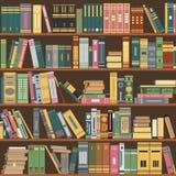 Estante, livros, biblioteca, vetor ilustração stock