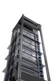 Estante metálico moderno del servidor stock de ilustración