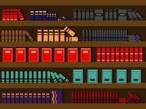 Estante no estilo liso Ilustração do vetor ilustração stock
