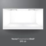 Estante para la presentación del producto con la luz 2 stock de ilustración