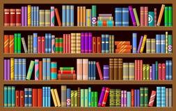 Estante para libros con los libros libre illustration
