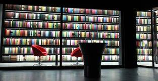 Estante para libros de la biblioteca Imagenes de archivo