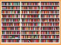 Estante para libros de la biblioteca por completo de libros Imágenes de archivo libres de regalías