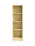 Estante para libros de madera aislado Fotos de archivo