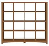 Estante para libros moderno de la oficina con las células cuadradas Imagen de archivo libre de regalías