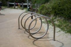Estante rizado de la bici Foto de archivo